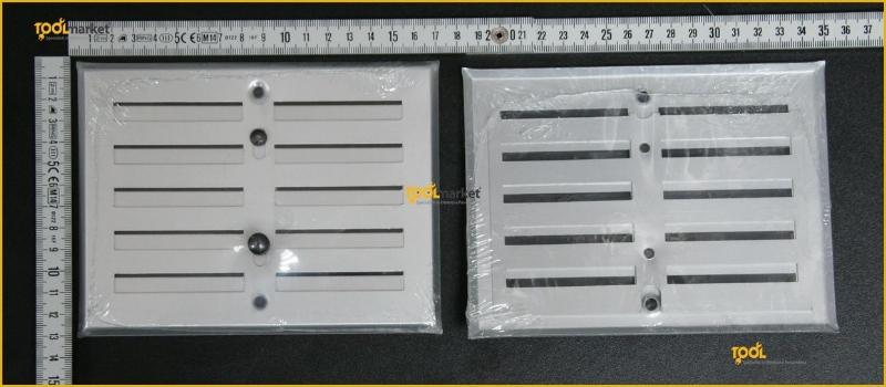 Griglia rett. in alluminio con dosatore
