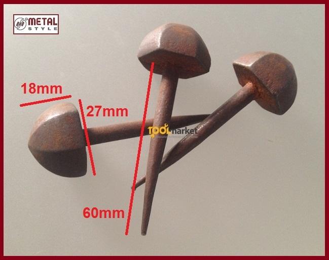 Borchia ferro bombata 65130