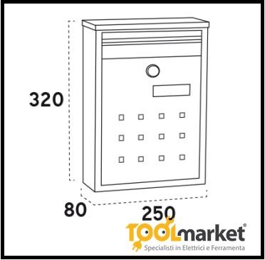 Cassetta postale acciaio Dime v1322