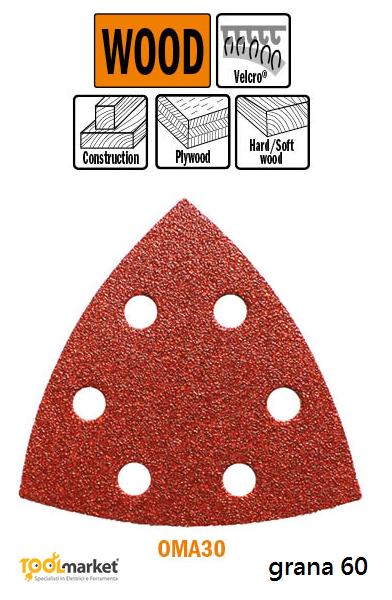Carta Abrasiva Perforata con Ossido di Alluminio OMA30 93mm