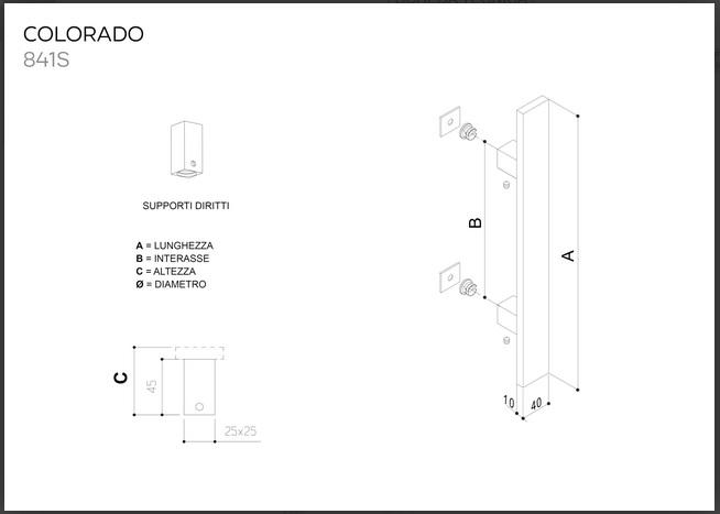 Maniglione in acciaio inox SATINATO AISI 304 modello COLORADO 841S da 800mm