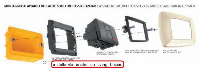 Coprinterruttore LIFE alluminio satinato 3p