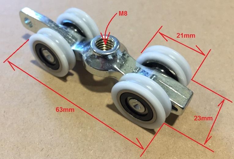 Kit per porta scorrevole binario + carrelli professionale Sisco