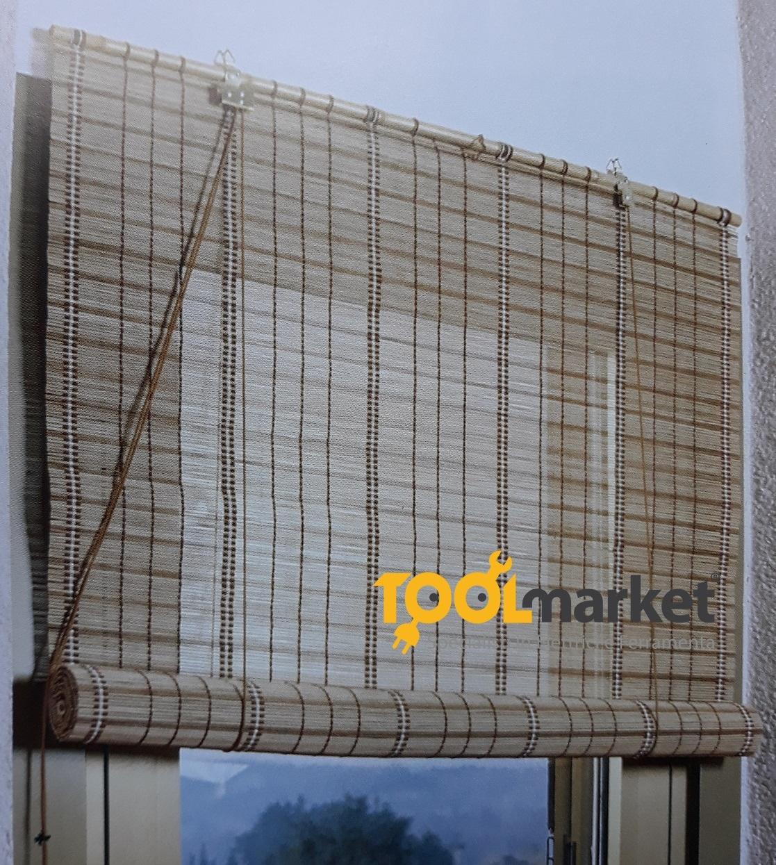 Tenda avvolgibile in midollino legno  150 x 260