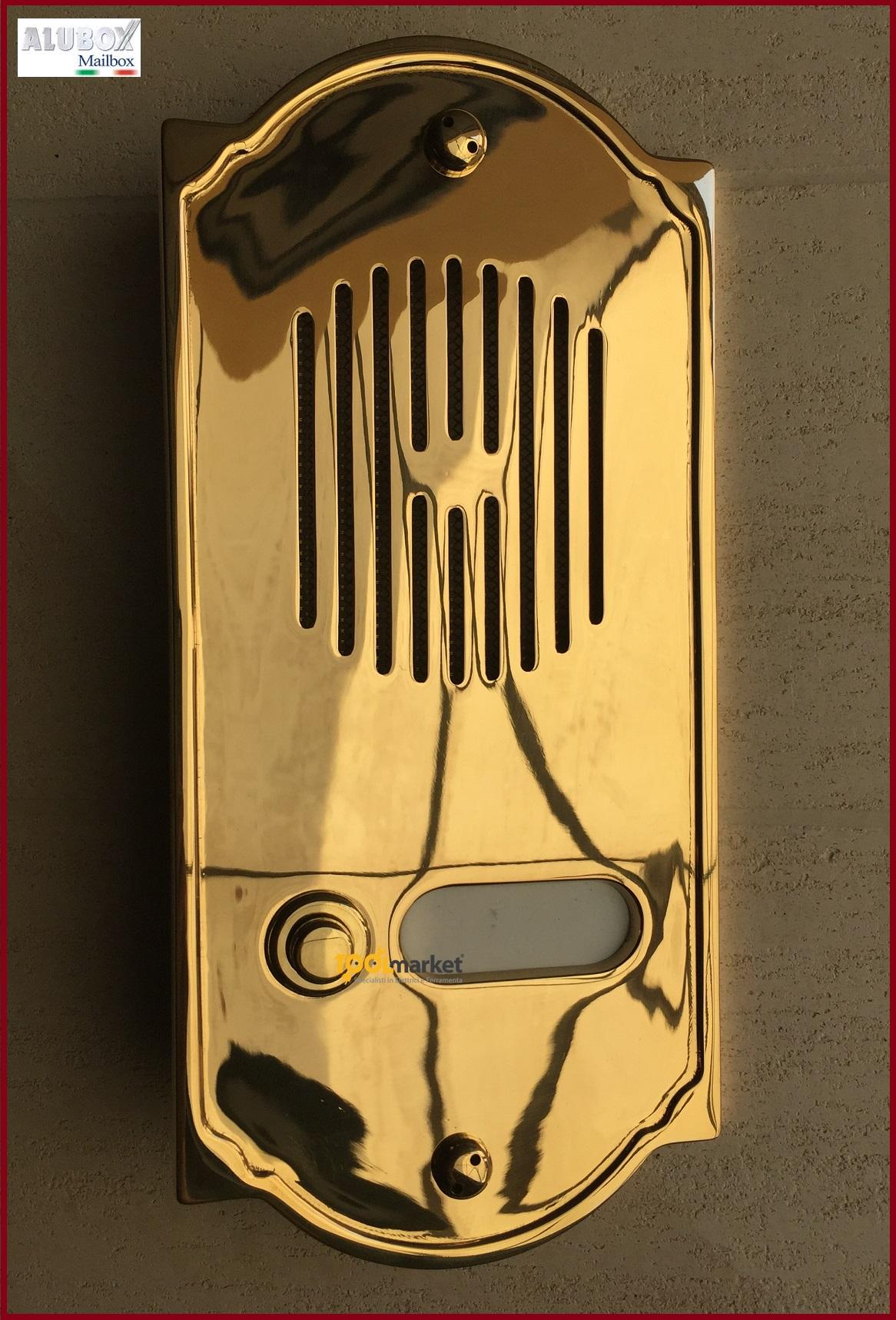 Pulsantiera citofonica ottone PLS1