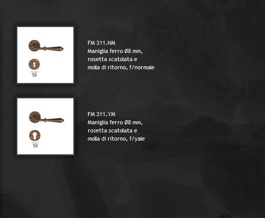 Maniglia FM311 ferro forgiato