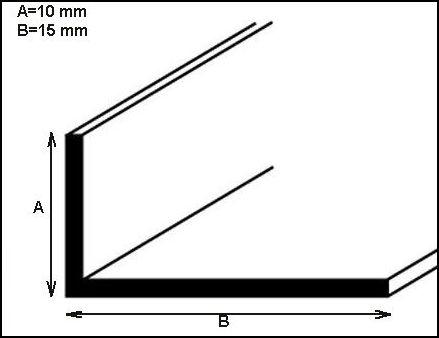 Profilo alluminio lucido a L