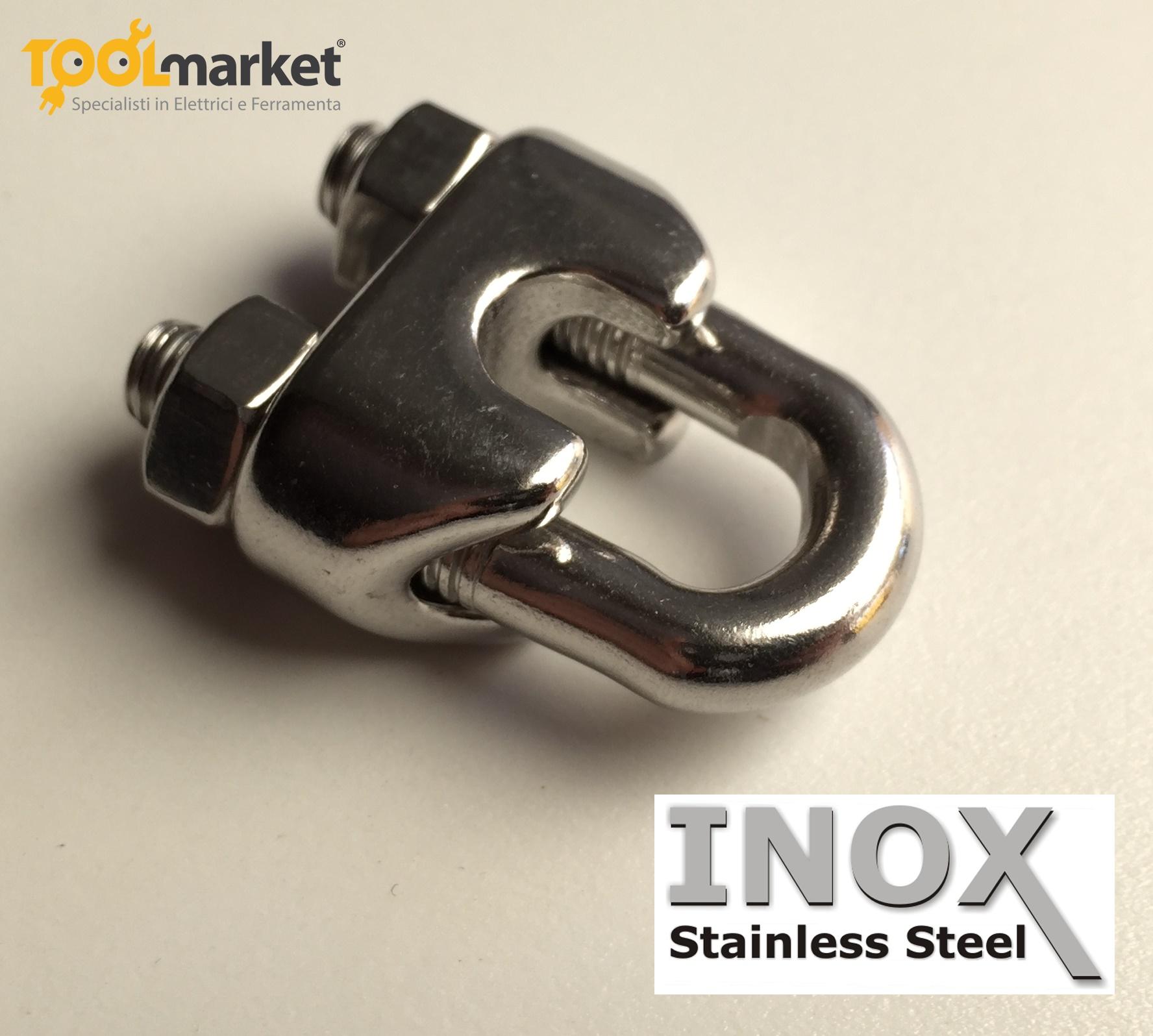 Morsetti acciaio INOX