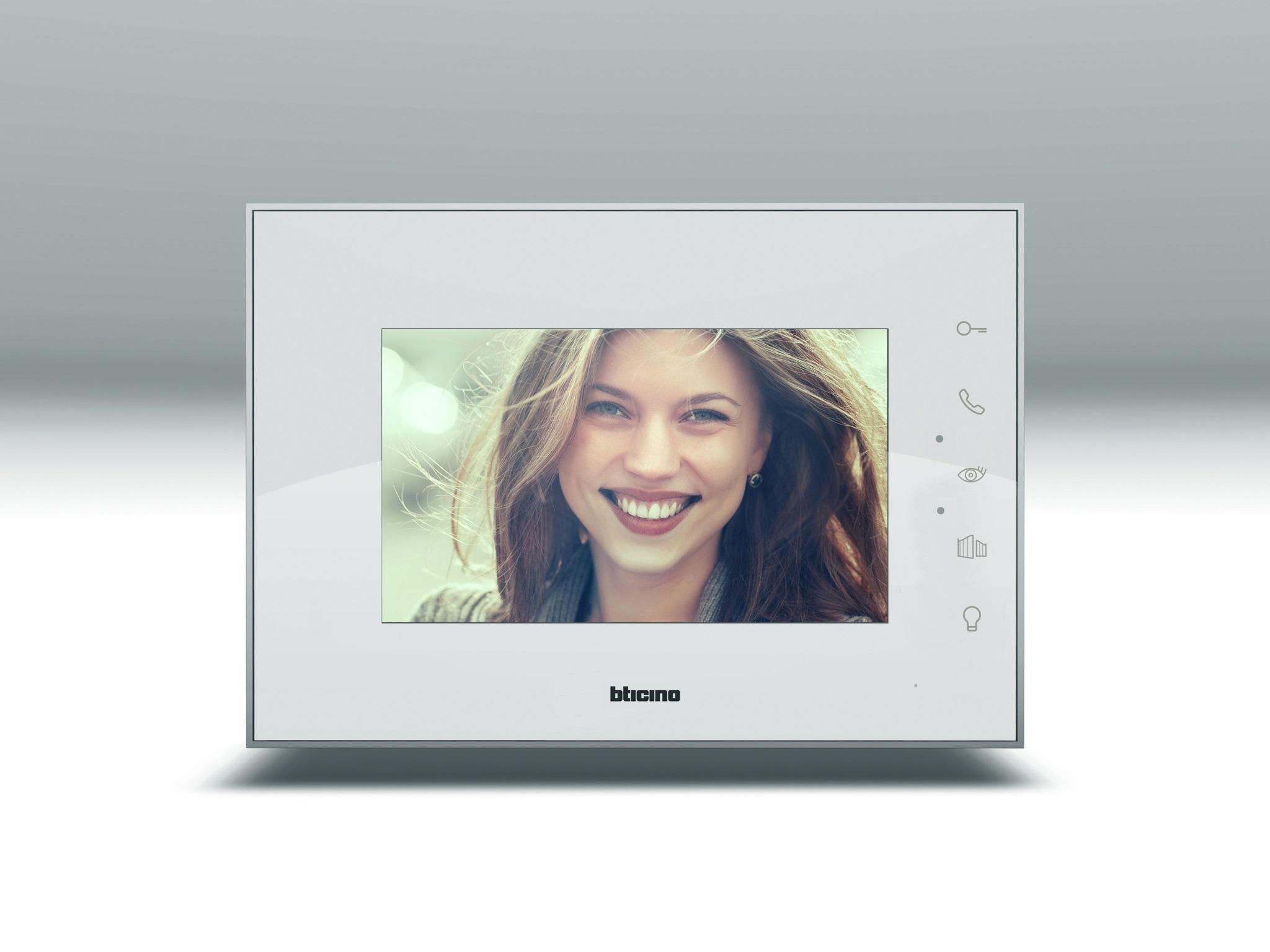 Monitor 7 pollici colori bianco 332354