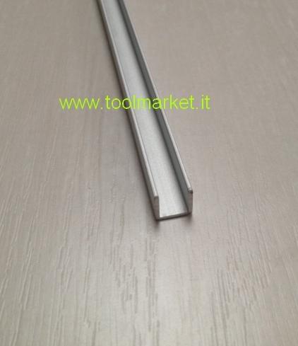 Profilo alluminio a U Anodizzato argento