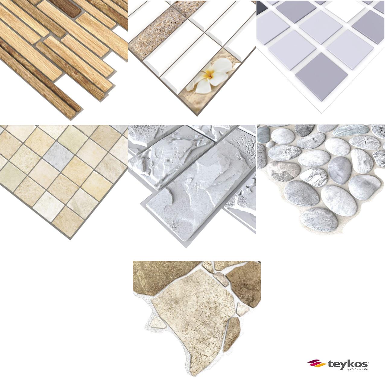 Pannello decorativo 3D in PVC vari modelli - TEYKOS