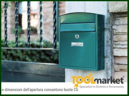 Cassetta postale acciaio nera Compact E-5734