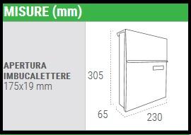 Cassetta postale acciaio nera Line E-6804