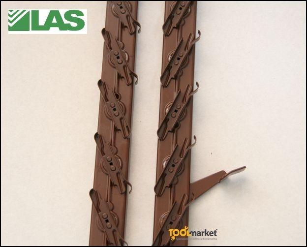Portalamelle orientabile per persiane in legno