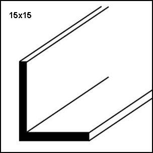 Profilo alluminio lucido angolare
