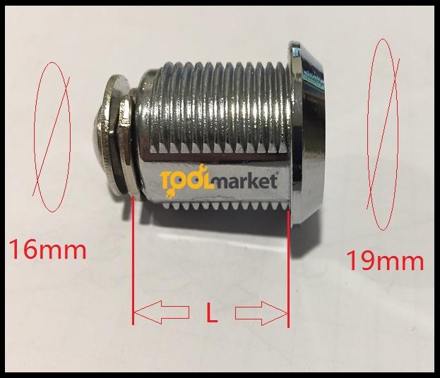 Serratura cilindro a levetta 16mm