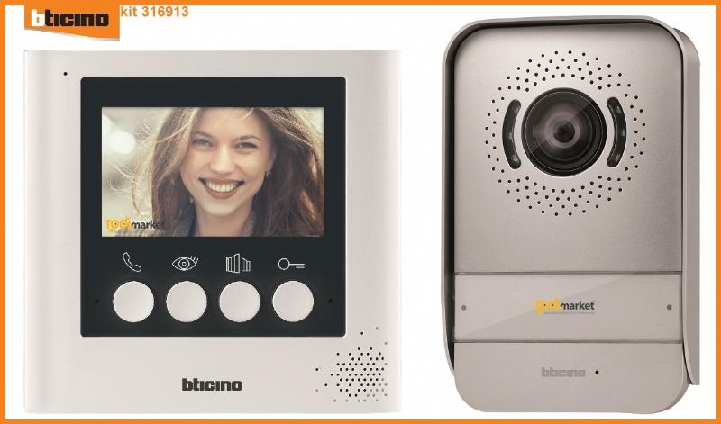 Videocitofono 2 fili 4,3 pollici 316913