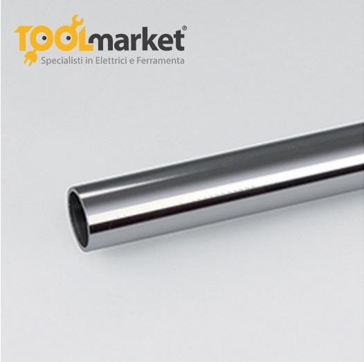 Profilo alluminio lucido tubo ø 18 mm