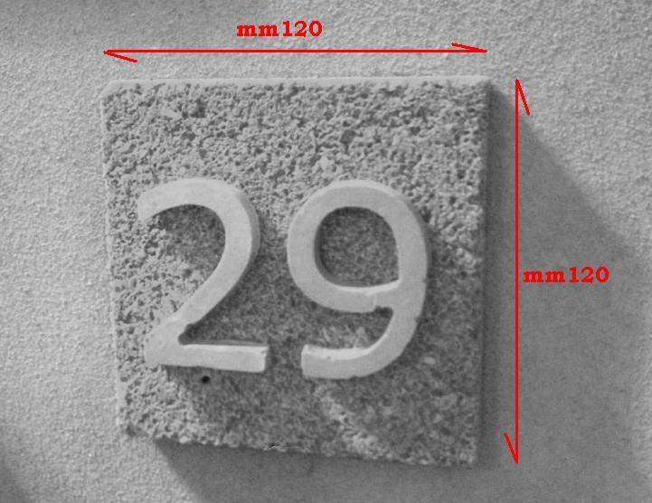 Numero civico Pietra naturale 1 cifra