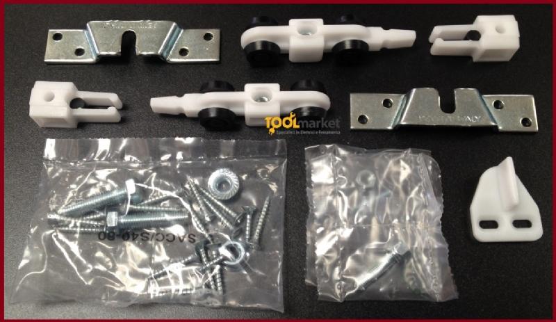 Kit per porta scorrevole binario + carrelli PETTITI