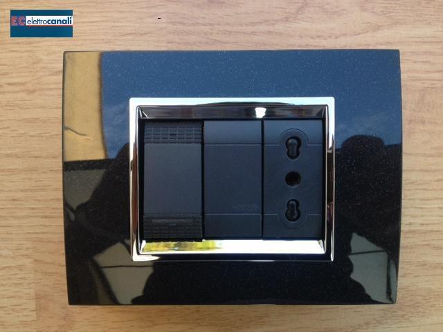 Coprinterruttore PRESTIGE nero glittering 3p