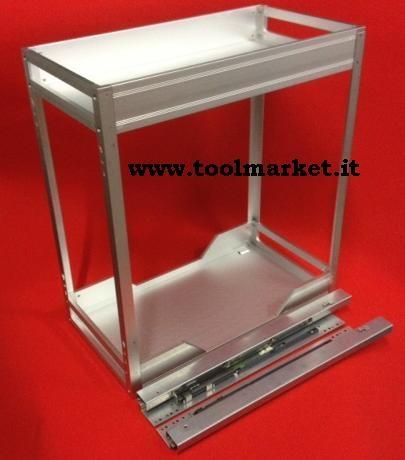 Cestello in alluminio da cm24