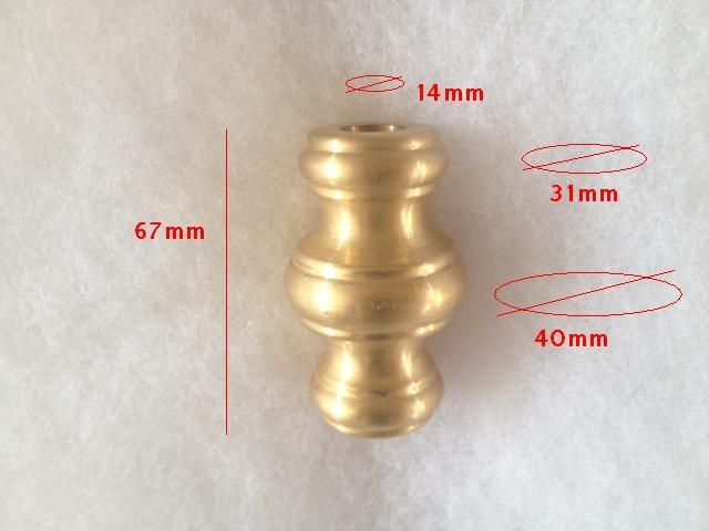 Nodo ottone naturale odmot14