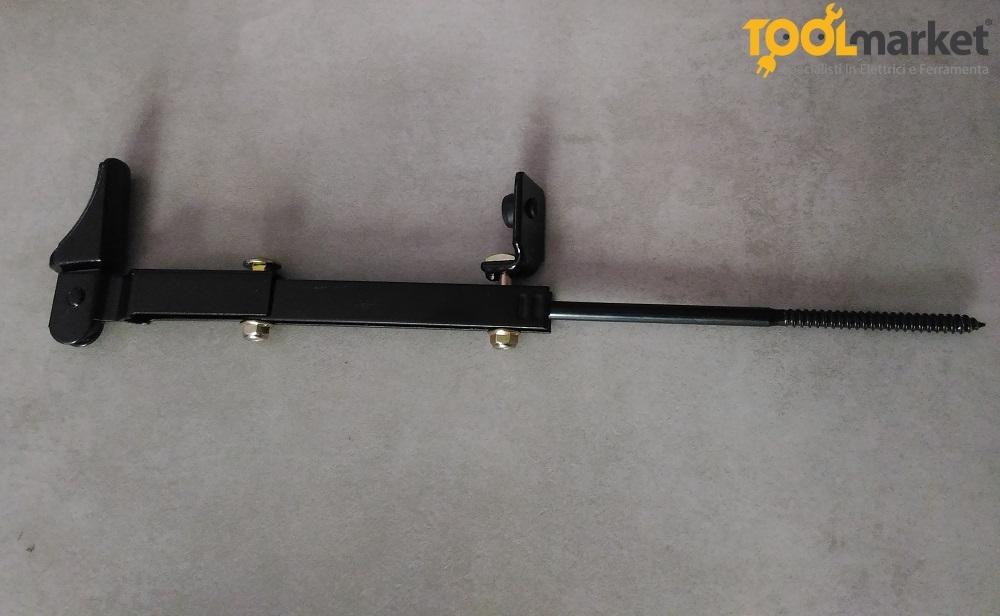 Fermapersiana in acciaio colore nero vite lunga - GHIDINI