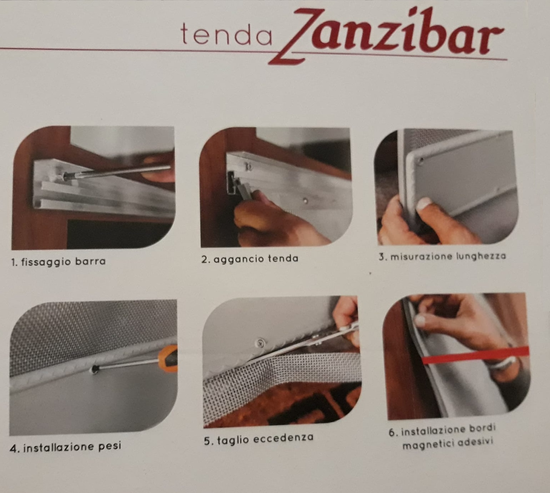 Tenda zanzariera  100 x 240 calamitata Zanzibar