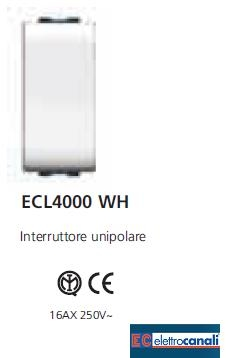 Interruttore LIFE WH ECL4000WH