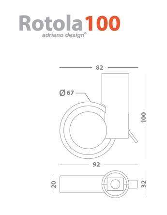 Ruota ROTOLA100 OgtM
