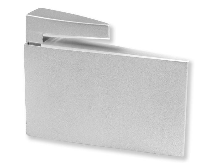 Reggimensola per vetro e legno Zipp argento