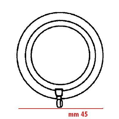 Anello per bastoni 22mm Nero argento