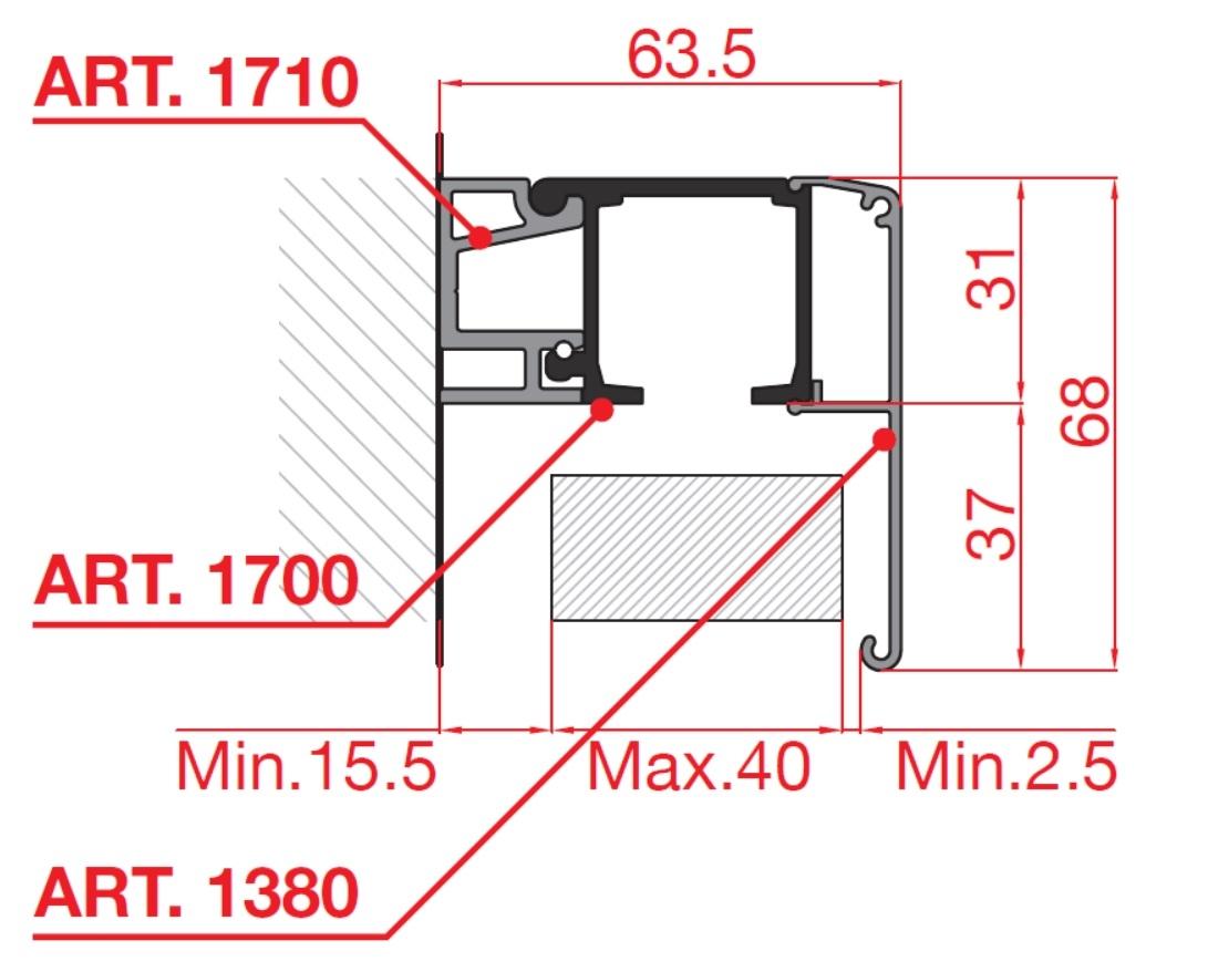 Kit scorrevole porte legno a mantovana alluminio CLASSIC - TERNOSCORREVOLI