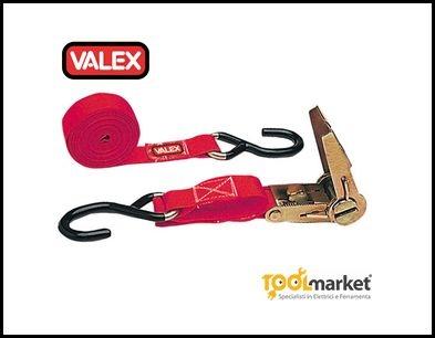 Cinghia con tenditore a cricchetto e ganci - VALEX