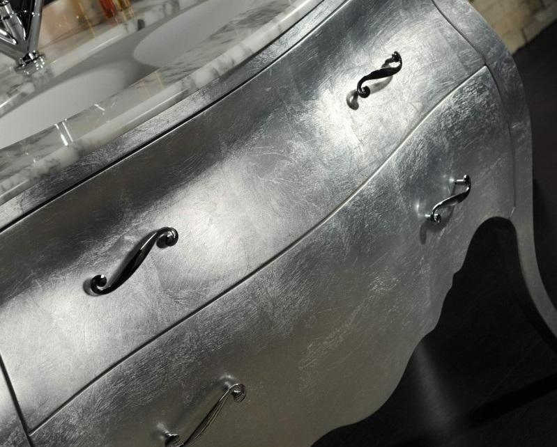 Foglia simil argento 100 fogli