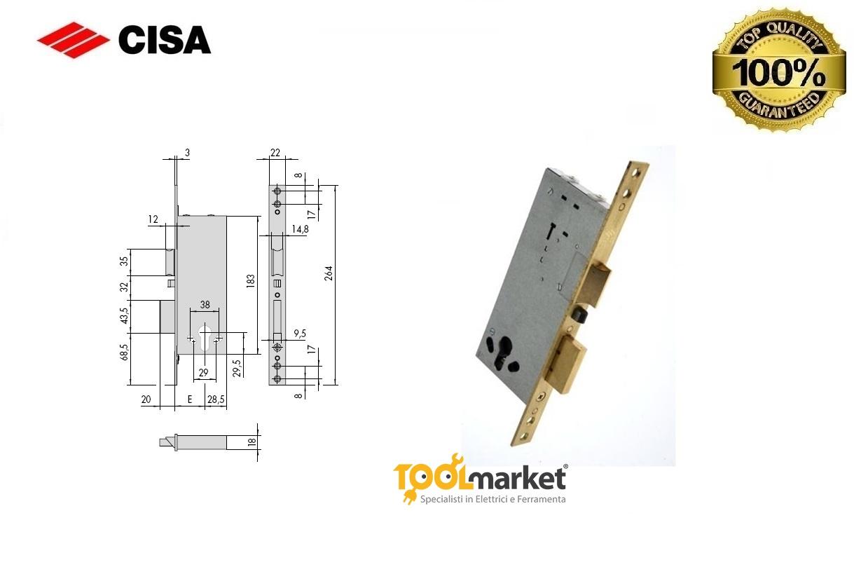 Serratura Cisa 12011 elettrica