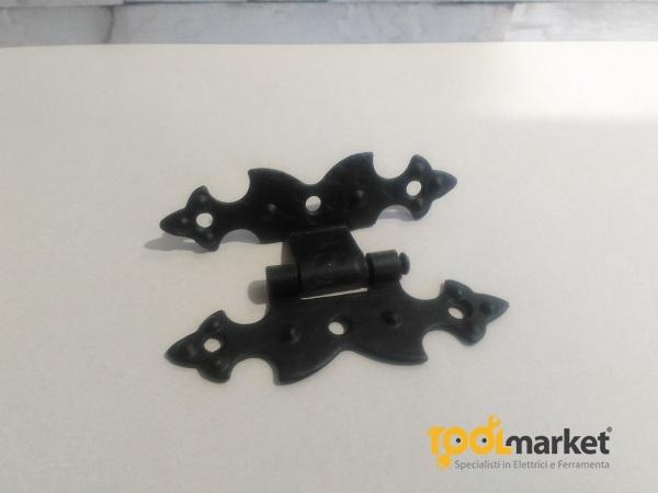 Cerniera nera in ferro battuto forma H Casiraghi