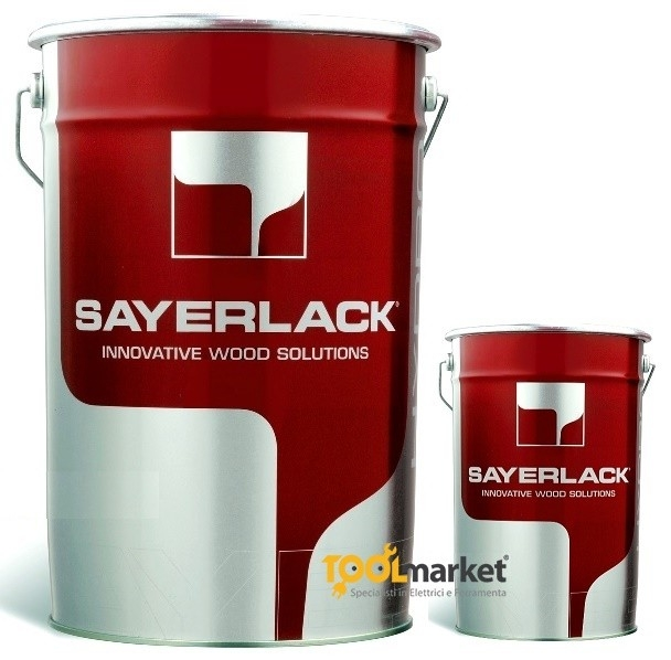Fondo finitura pigmentato opaco bianco per esterno TU0218/41 + TH0720 SAYERLACK lt6+lt3