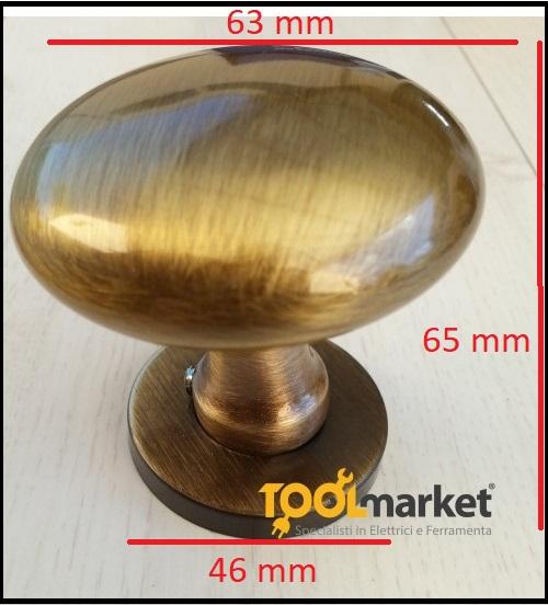 Pomolo per porte bronzato gemini diametro 63