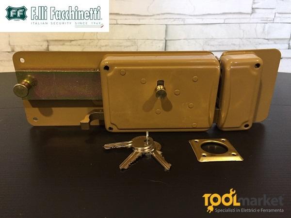 FF serratura ferroglietto verniciata per ferro con scrocco P65