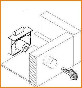 Serratura per cassetti con cilindro