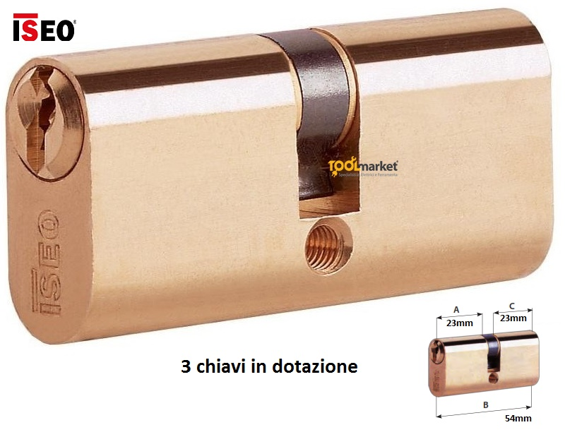 Cilindro ovale 54mm ISEO