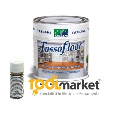 Smalto all'acqua per pavimenti 750 ml tassofloor TASSANI