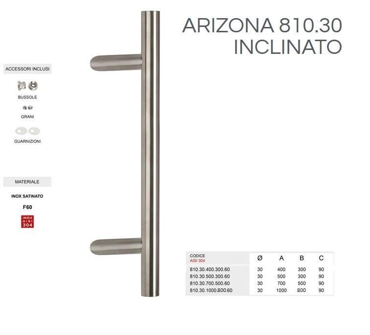 Maniglione inclianto in acciaio inox modello ARIZONA  810.30.50