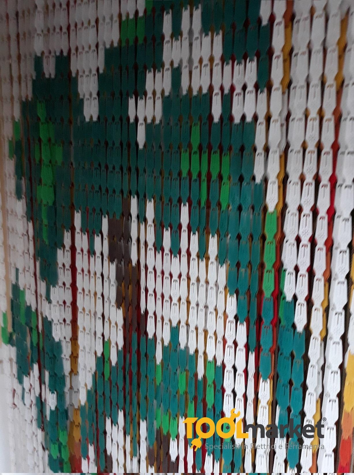 Tenda antimosche piastrina 120 x 225 Palme