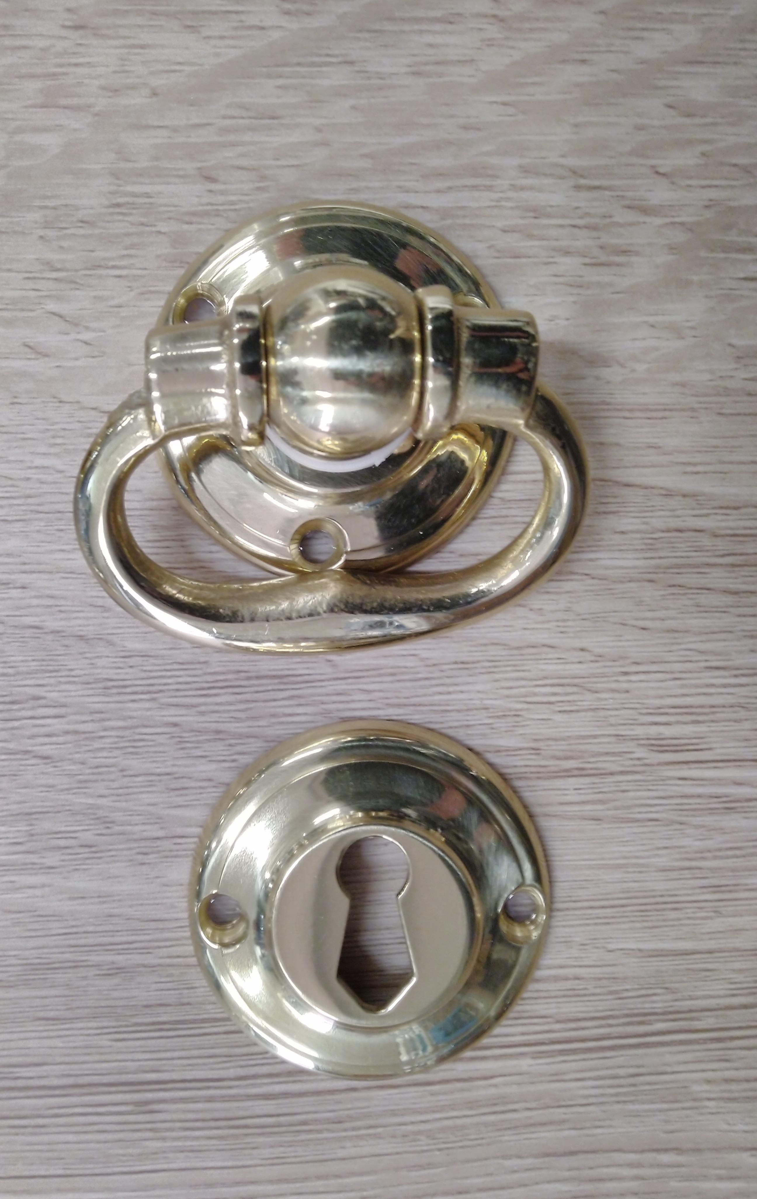 Coppia pendenti maniglia snodo in ottone lucido - COTTALI