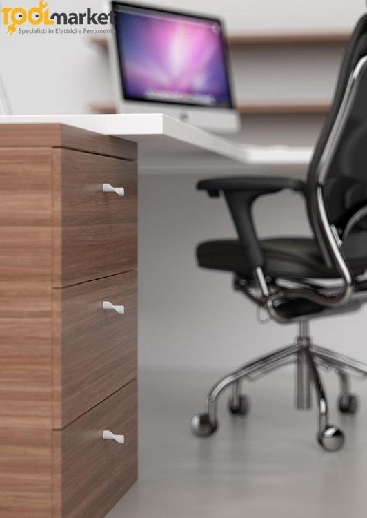 Pomello per mobili in zama con finitura bianca art.350 MITAL