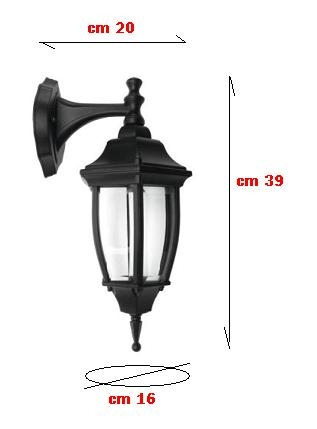 Lanterna in Pressofusione nera REER