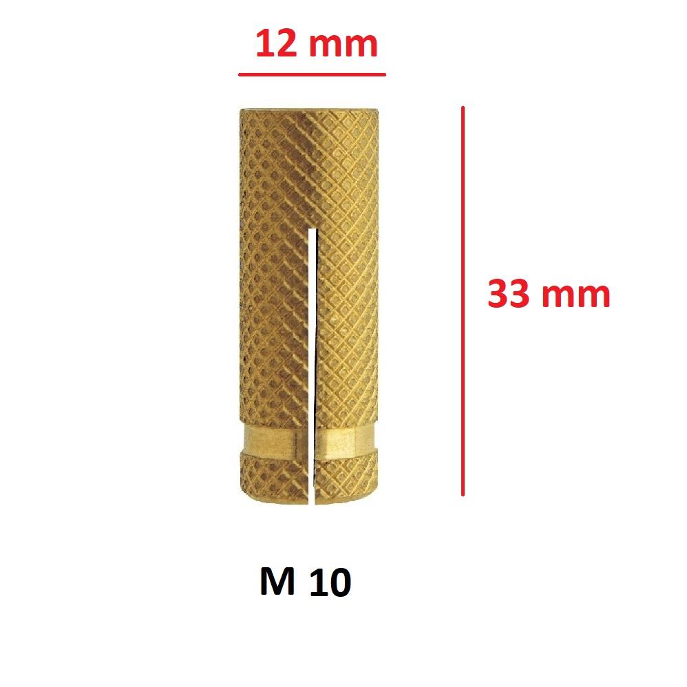 Tasselli per fissaggio in ottone diametro 10mm -pz10-FRIULSIDER